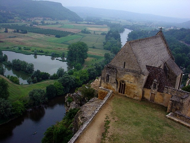 Landscape around Beynac catsle