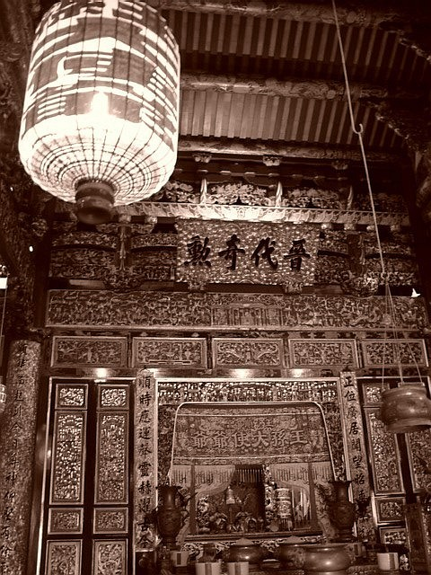 Inside a temple, Georgetown