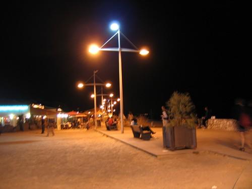 Le soir, plage du Môle