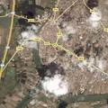 Libourne vue par Satellite