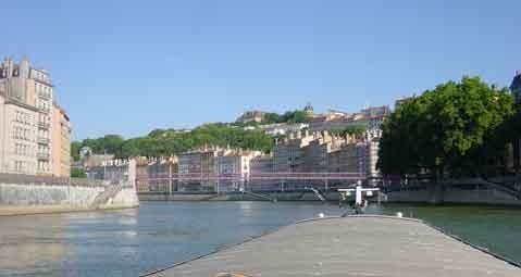 Lyon, passerelle St Vincent