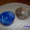 Mes coupelles à thé, fabriquées par Guibert, potier à Lamoura