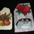 Ardoises décorées avec serviettes