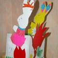 Lapin de Pâques fait avec Chloé