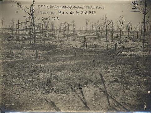 Bois de la Gruerie en 1916