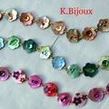 Bracelets Boutons petites fleurs