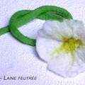 Lys blanc (feutrage à l'eau)