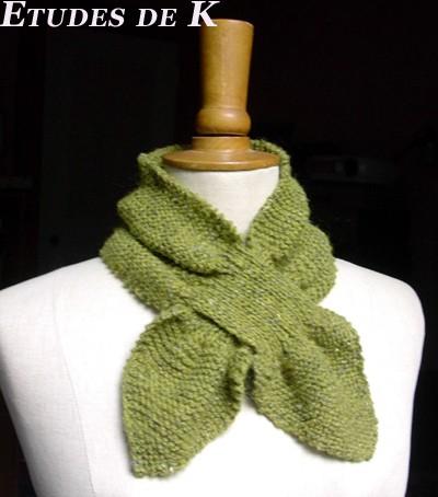 Echarpe feuille Elle Tricote en Felted Tweed (Rowan)