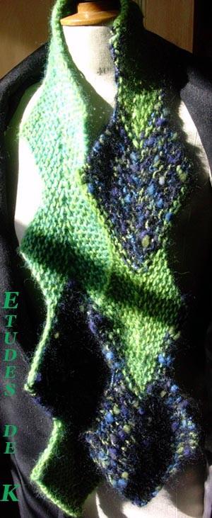 Echarpe Edgar Knitty.com bleu-vert 2