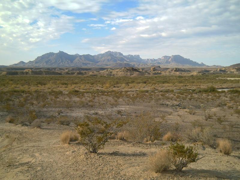 chisos mountains depuis le bas