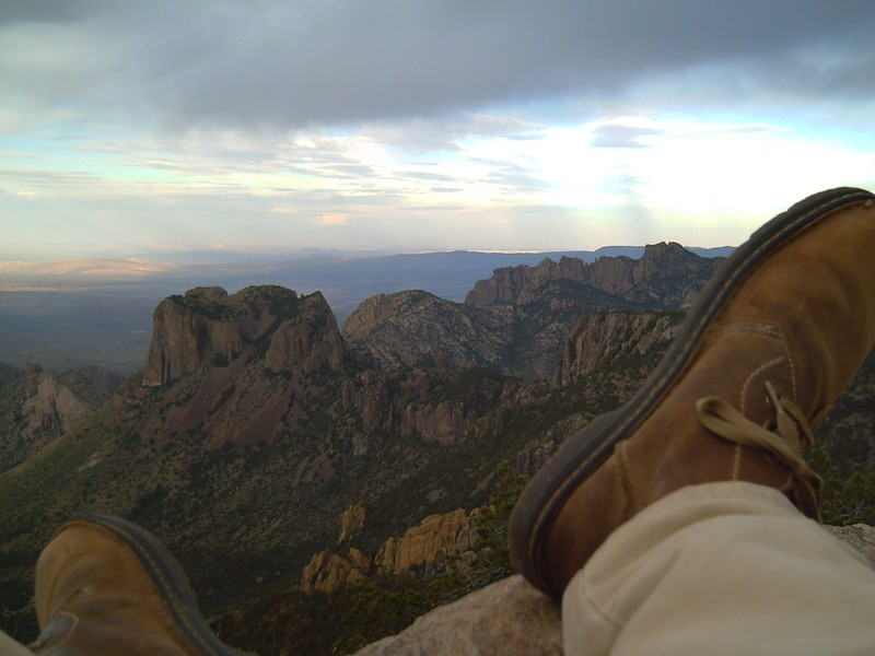 chisos mountain du haut