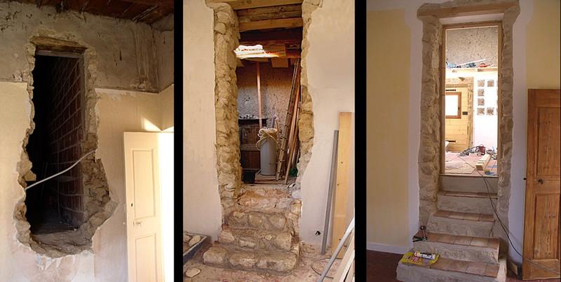 l 39 escalier qui m ne la salle de bain ancienne remise photo de la salle de bain a bosse. Black Bedroom Furniture Sets. Home Design Ideas