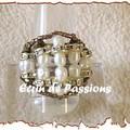 Anneau - avec perles d'eau douce