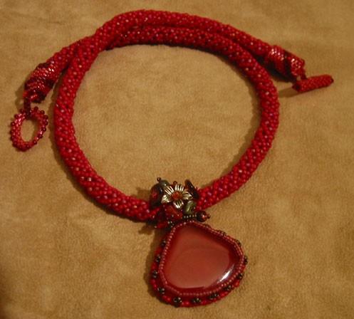 Collier rouge cornaline