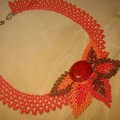 Collier Automne (Schéma Bead and Button)