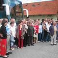 La délégation sur le départ.