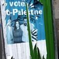 Affiche pro-palestine avec Dieudonné