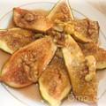 Figues fraîches rôties au miel et noix