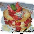 Millefeuille de tuiles aux fraises