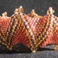 Bracelet en peyote, schéma de Cathy Lampole.