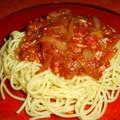 Spaghetti en sauce