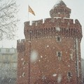 Perpignan sous la neige en 2007