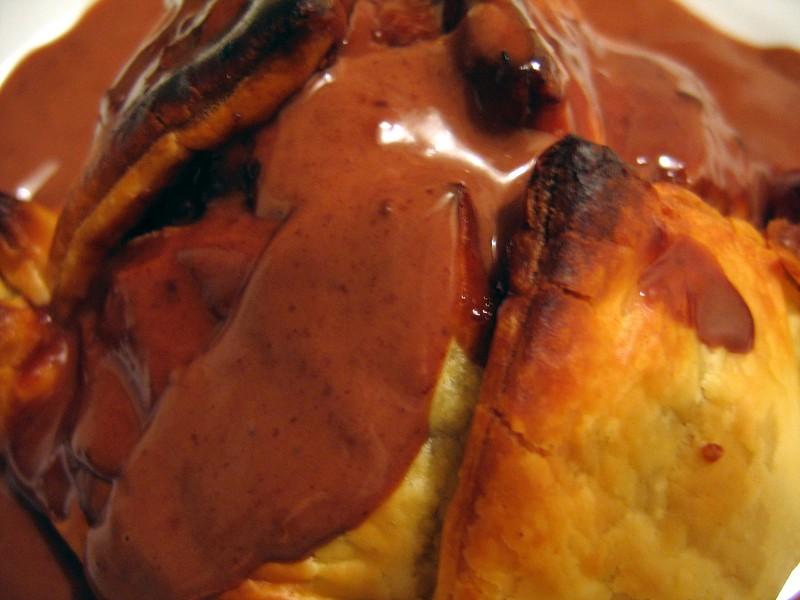 Feuillete poires-chocolat