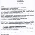 LETTRE A Mr LE SECRETAIRE GENERAL DE LA PREFECTURE DU FINISTERE