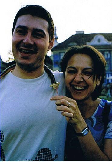 Christina et Ovidiu qui m'ont hébergé à Timisoara