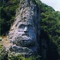 visage de Decebal (1er roi de Roumanie) dans la roche