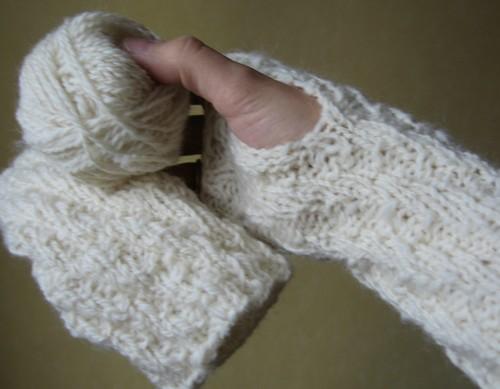 Mitaines Tendance Tricot laine filée main