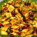 Salades de pâtes grillées à la grenade
