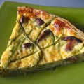 Quiche girolles - asperges sauvages