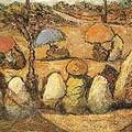 Antonio Fuentes nacio en Tanger en 1905_Vendedoras de pan