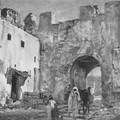 George Owen Wynne Apperley_Una puerta en Tánger