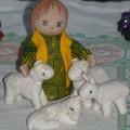 le berger avec ses moutons