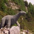 dinosaure au barrage d'Emosson suisse