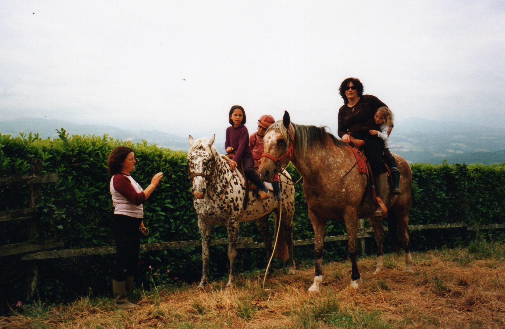 maman fait du cheval ca alors!