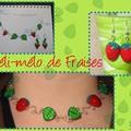 Collier Mélimélo de fraises