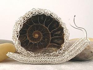Jurassic Art - Snail Brooch