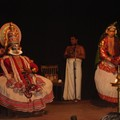 les 3 personages du theatre Kathakali