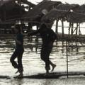 Tonle Bati - cabanes a sieste et pique nique