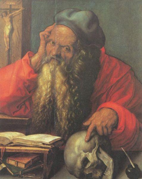 Saint Jérôme, Albrecht Dürer, 1521, 59,5 × 48,5 cm