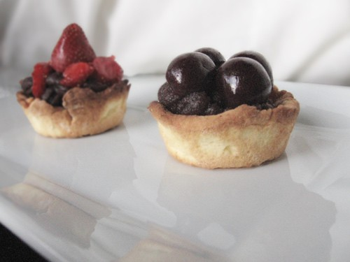 Anko and summer fruit tartlets
