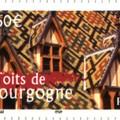 Les célèbres Toits de Bourgogne, ici en timbre
