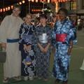 Avec Jacques, Youri et Pauline....tous en Yukata