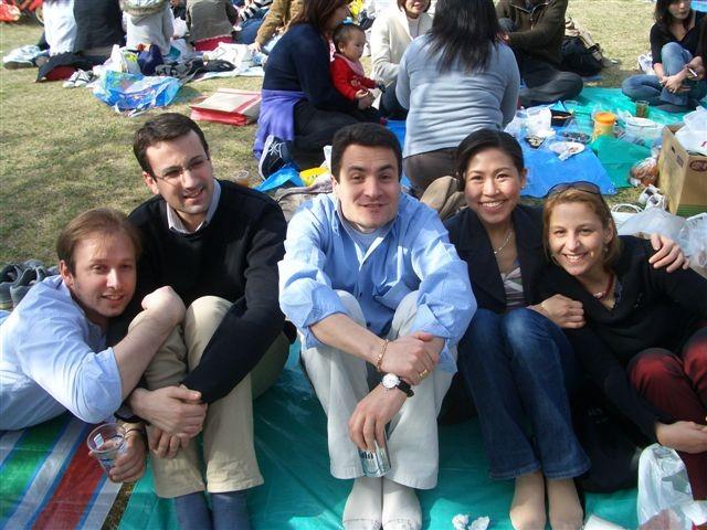 1er Avril 2006 Hanami Aurelien, Cyril, Yoram, Keiko et Armelle