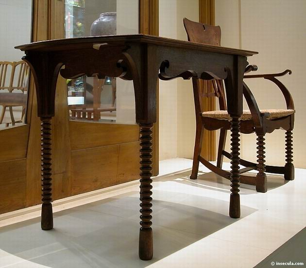 Gustave Serrurier-Bovy - Table 1895