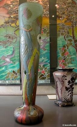Emile Gallé - Vase cornet 1900