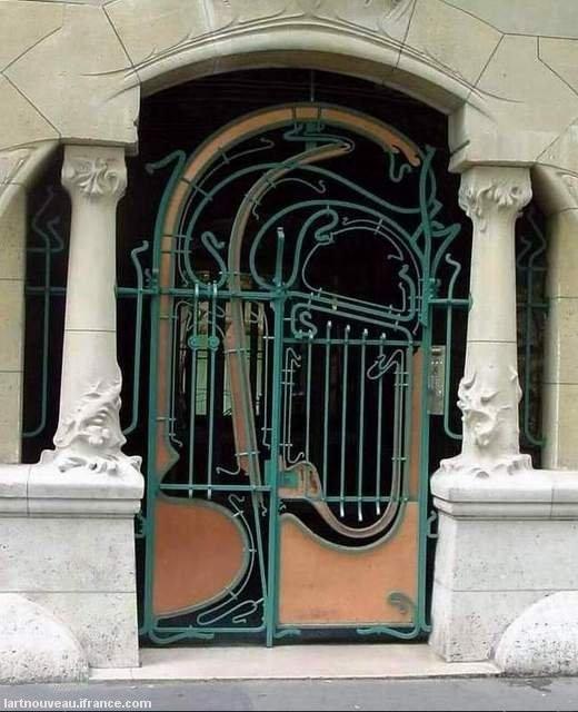 Guimard - Grille du Castel Béranger 1898 - Entrée